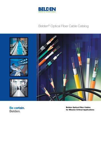 Belden® Optical Fiber Cable Catalog