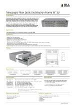 """elescopic Fiber Optic Distribution Frame 19"""" 3U Q-Fiber - 1"""