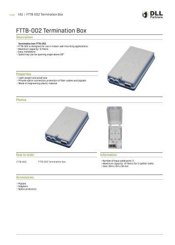 FTTB - 002 Termination Box