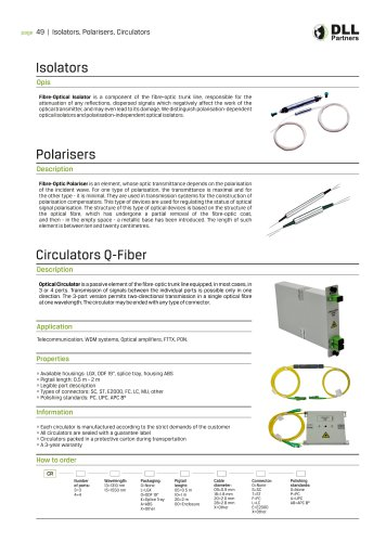 Isolators , Polarisers , Circulators