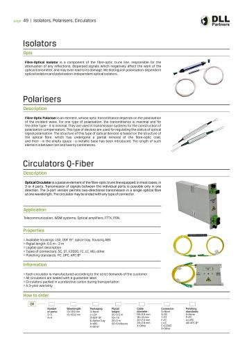 Isolators , Polarisers , Circulators