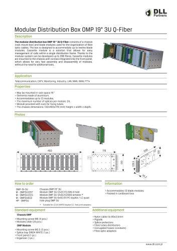 "Modular Distribution Box OMP 19"" 3U Q-Fiber"