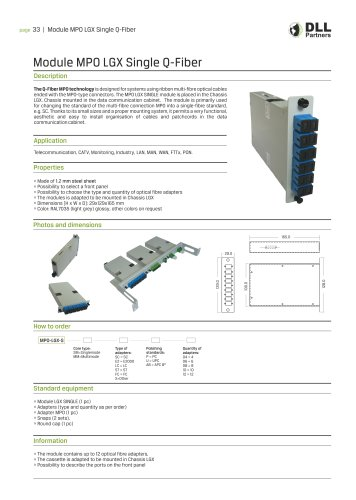 Module MPO LGX Single Q-Fiber