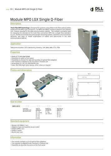 Module MPO LGX Single Q-Fiber