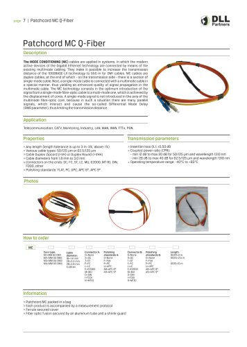 Patchcord MC (Mode Conditioning) Q-Fiber