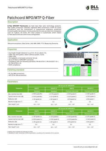 Patchcord MPO/MTP Q-Fiber
