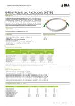 Q-Fiber Pigtails and Patchcords G657.B3 - 1