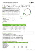 Q-Fiber Pigtails and Patchcords Q-Bend G657.B3 - 1