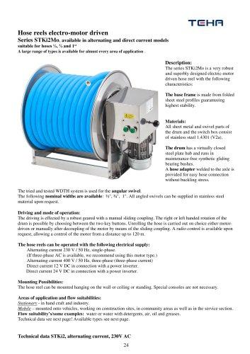 Electro-motor driven hose reel type STKi2Mo
