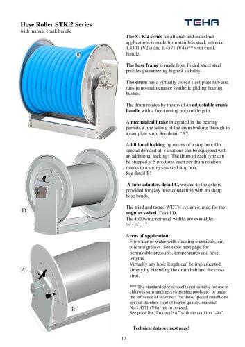 Manual ATEX hose reel type STKi2 EX