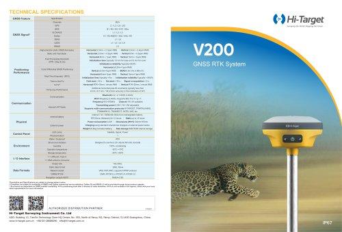 Hi-Target/GNSS Receiver/V200