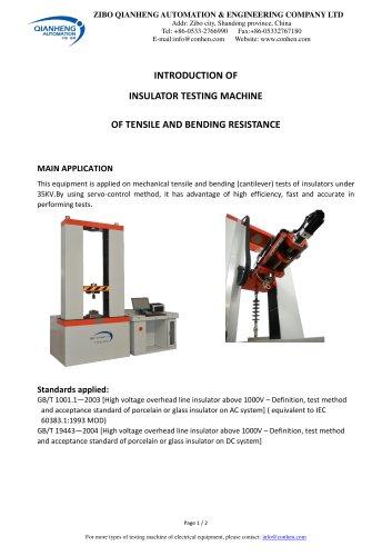 Insulator Cantilever & Tensile Multi-functional Testing Machine