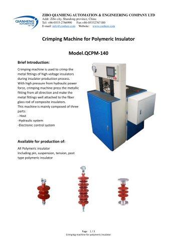 Insulator crimping machine Model.140