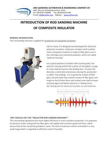 Insulator rod sanding treatment machine
