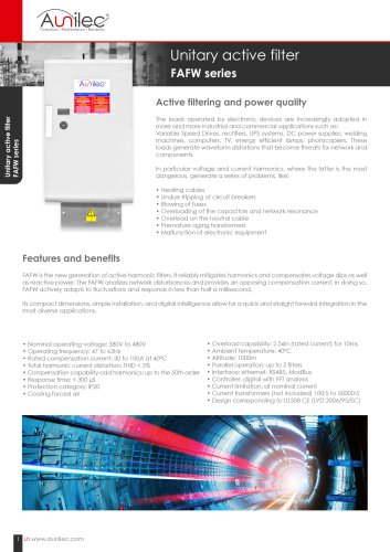 Datasheet Aunilec unitary active filter EN
