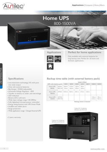 Datasheet Home UPS