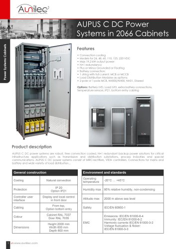 DC Power systems cabinets AUPUS C