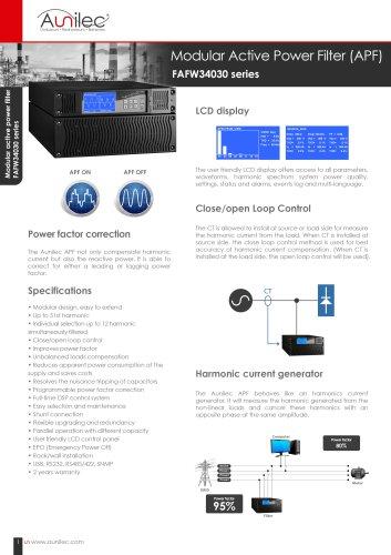 FAFW34030 series Modular active power filter