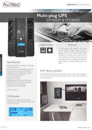 Multi-plug UPS EPC600D & EPC800D