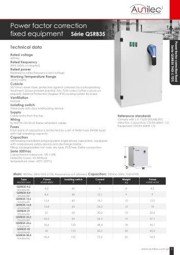Power factor correction QSRB35