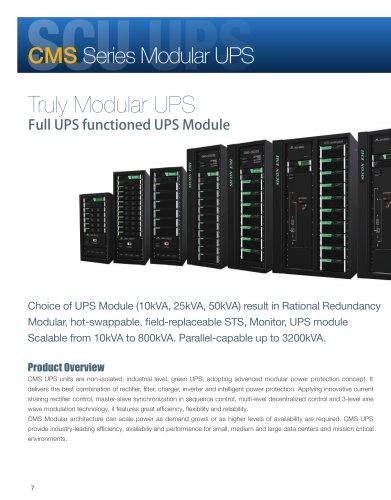 CMS Modular UPS 10-3200KVA