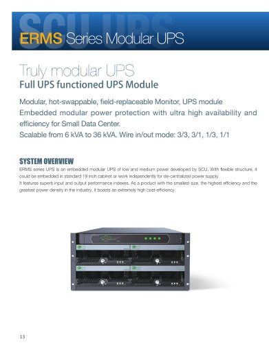 Sicon ERMS UPS 6-36KVA applied to small data center