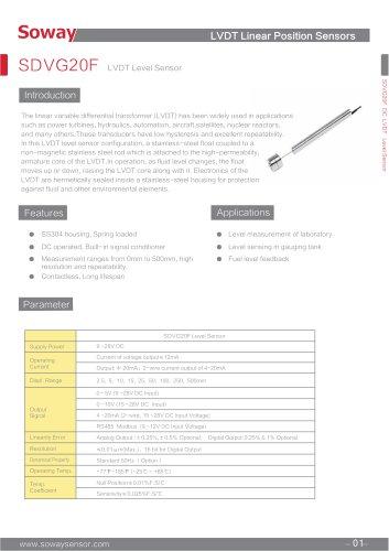 LVDT Level Sensor:SDVG20F