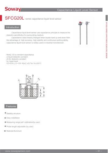 SOWAY Capacitance level sensor SFCG20L