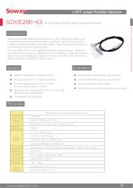 SOWAY LVDT displacement transducers SDVE28B-63