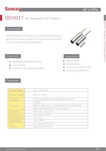 SOWAY LVDT displacement transducers SDVG17