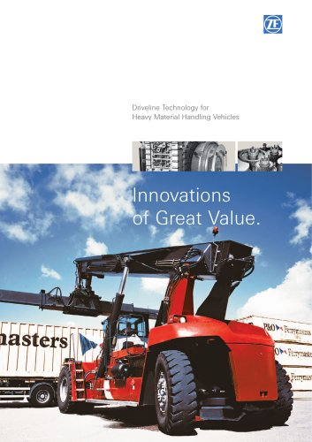 Driveline Technology for Heavy Material Handling Vehicles