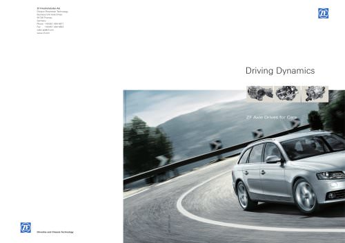 Driving Dynamics - ZF Axle Drives for Cars