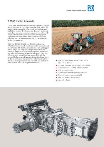 T-7000 tractor transaxle
