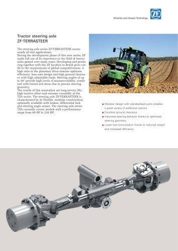 Tractor steering axle ZF-TERRASTEER