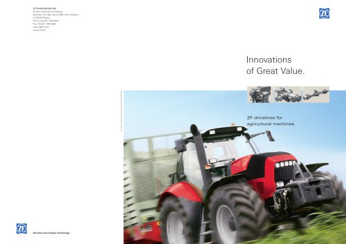 ZF drivelines for agricultural machines