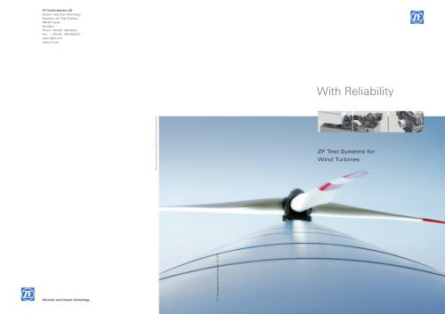 ZF Test Systems - Wind power transmission test rigs