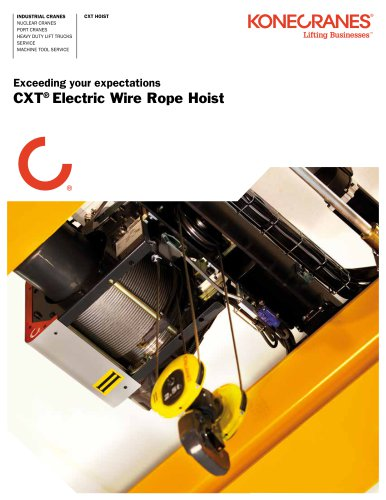 CXT® Electric Wire Rope Hoist