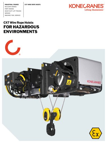 CXT Wire Rope Hoist for Hazardous Environments