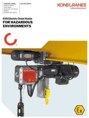 EXN Electric Chain Hoists for Hazardous Environments