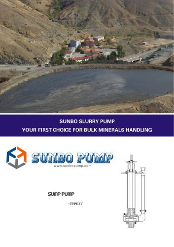 Sunbo Pump Vertical Sump Pump Pit Pump