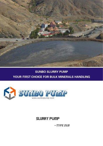 Sunbo Pump ZGB Slurry Pump Industry Water Deliver