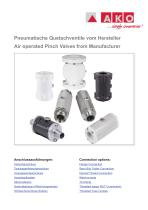 Air operated pinch valves from Manufacter