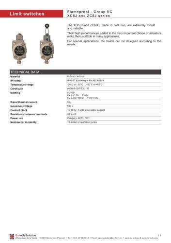 Flameproof - Group IIC XC8J and ZC8J series