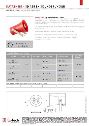 SD 125 Ex SOUNDER /HORN