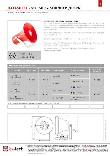 SD 150 Ex SOUNDER /HORN