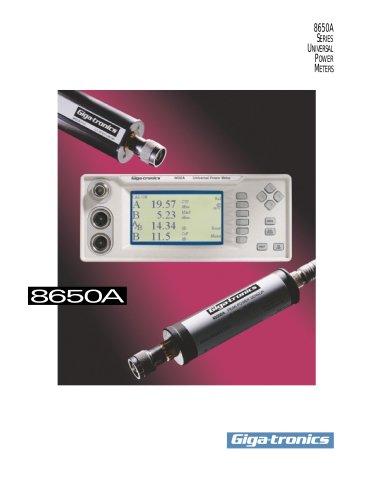 Giga-tronics 8650A Series Universal Power Meter Product Flier