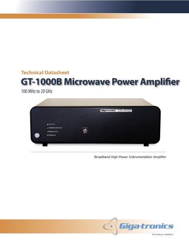 Giga-tronics GT-1000B Microwave Power Amplifier Product Flier
