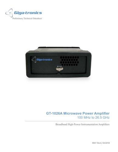 GT-1026A - Microwave Power Amplifier