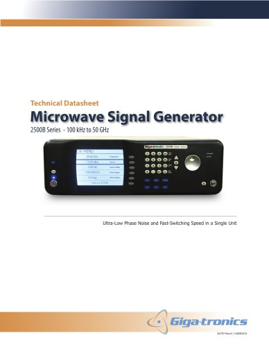 Microwave Signal Generator 2500B Series
