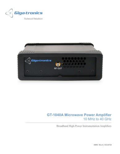 Model GT-1040A - Microwave Power Amplifier
